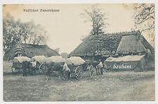 AK Russisches Bauernhaus - Feldpost Scharfschützen Abteilung 25  - 1.WK (9310)