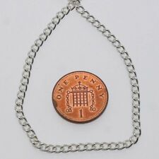 1 metre of silver plated metal necklace curb chain 4.5mm jewellery making