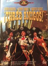 Three Amigos! Chevy Chase Steve Martin  Region 4 DVD  Very Good Condition