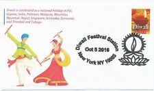 Diwali - India - Two Different New York City Festival Station Cancellations FDC