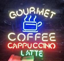 "Neon Light Sign 32""x24"" Gourmet Coffee Cappuccino Latte Beer Artwork Decor Lamp"