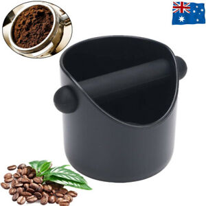 Coffee Waste Container Espresso Grinds Knock Box Tamper Tube Bin Black Bucket AU