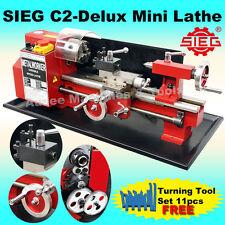 SIEG C2 Delux / 180x300mm Variable speed Mini Hobby Lathe FREE TOOL SET