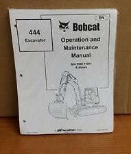Bobcat 444 Excavator Operation and Maintenance Manual 4900041