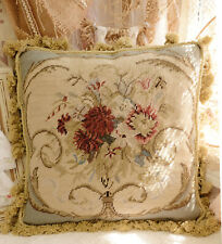 """16"""" Shabby Chic Classic French Country Swirls Floral Nedelepoint Pillow Cushion"""