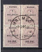 Eupen & Malmedy 4 BLOC DE QUATRE timbré (75670