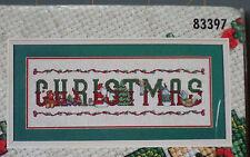 Bucilla Cross Stitch KIT CHRISTMAS SIGN #83397 NIP MAKE A NICE GIFT FUN PROJECT!