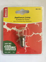 Wellco Screw Type SES E14 15W 15 Watt 300ºC Oven Cooker Lamp Light Bulb