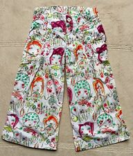 Oilily Girls' Pants, Sz  4-5, Eur 104, White Print, Summer Baggy, Girl, Pictures
