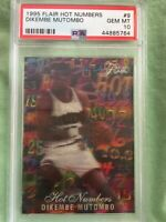 1995 Flair Hot Numbers SETBREAK Dikembe Mutombo #9 PSA 10 GEM MINT only 1 🔥🏀
