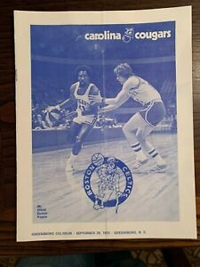 9/29 1973 BOSTON CELTICS CAROLINA COUGARS ABA BASKETBALL PROGRAM HAVLICEK EX