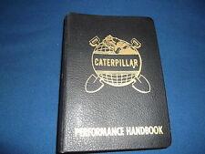 CAT CATERPILLAR EARTHMOVER PERFORMANCE HANDBOOK 1ST EDITION MANUAL BOOK 1966