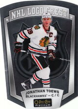 16/17 O-Pee-Chee Platinum NHL Logo Crest Die-Cut Jonathan Toews #13 Blackhawks