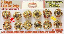22K 23K 24K Goldplated Wholesale Lots Indian Stud Earrings in Red Black Meena AD