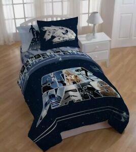 Star Wars Classic Reversible Twin/Full Comforter & Pillow Sham Darth Vader Luke
