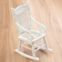 ❤️ 1:12 Dollhouse Miniature Furniture Wooden Rocking Chair for Dolls House  π