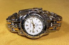 Bulova Marine Star 100M Water Resist 2 Tone Stainless Steel Ladies Quartz Watch