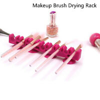 Silicone Makeup Brush Holder Drying Rack Organizer Cosmetic Shelf Display Too_ws