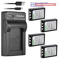 Kastar Battery Slim Charger for Olympus Li-10B Li-12B Li-10C Stylus 600 Digital