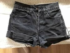 vintage levis 501 raw distressed faded black cut off shorts s 6