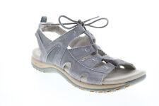 Earth Origins Sassy Mujer Gris Ancho Suede Slip On Zapatos Sandalias Gladiador