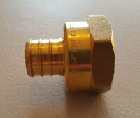 "1 PC. 3/4"" PEX X 3/4"" FEMALE NPT THREADED ADAPTER BRASS CRIMP FITTING LEAD FREE"