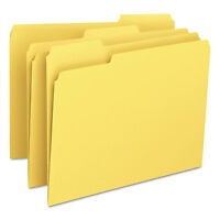 Smead File Folders 1/3 Cut Top Tab Letter Yellow 100/Box 12943