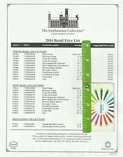 2004 Goebel The Smithsonian Collection Retail Price List
