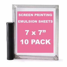 "Emulsion Sheets - 10 Pack - 7""x7"" DIY Yudu Style Screen Printing - 30 Microns"