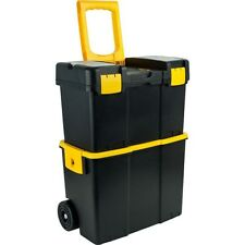 Stackable Mobile Tool Box with Wheels by Trademark Tools