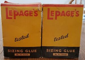 2 boxes vintage Lepage's Sizing Glue Gloucester MA Massachusetts
