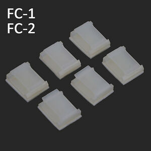 Rectangle Self Adhesive & Cradles Car Cable Tie Bases Black & White Clips