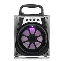 Portable Bluetooth Speaker FM Radio Bass Sound With RGB LED Lights USB Aux TF
