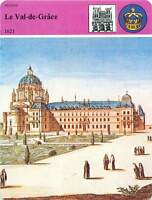 FICHE CARD Notre-Dame du Val-de-Grâce 1621 Paris Anne d'Autriche France 90s