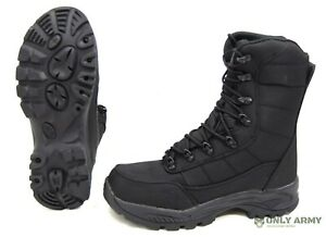 Commando Black Boots Dutch Army Special Forces Style Waterproof Assault Combat