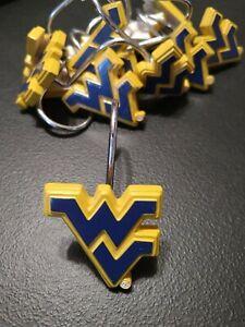 West Virginia University Mountaineers NCAA 12-piece Shower Curtain Rings