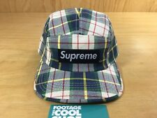 Supreme Summer Plaid Box Logo  5-Panel Camp Cap 2007 SS07 CDG PCL