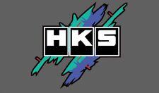HKS vintage style stickers x2