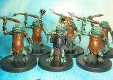Dungeons & Dragons Miniatures Lot  Kuo-Toa Hunter Kuo-Toa Whip Frogmen !!  s112
