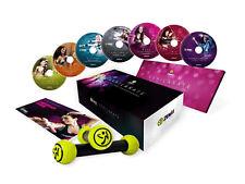 ZUMBA EXHILARATE Body Shaping 7 DVD Deluxe Set + Toning Sticks + 1Y Warranty
