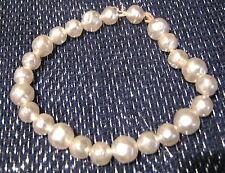 BELLA Semplice Elasticizzato stringa di finta perla perline su un braccialetto ingenua, ma Nizza