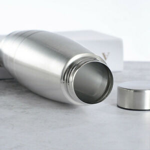 1Pcs Stainless Steel Water Bottle Metal Running Drinks Flask Newest Useful