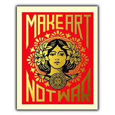 Impresión de guerra no hacer Arte Pared Placa Letrero De Metal humorístico Inspirador Citar Retro