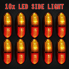 10X Red/Amber 4 LED Side Clearance Marker Light Car Truck Trailer Lamp 12V/24V
