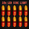 10X Red/Amber LED Side Clearance Marker Lights Car Truck Trailer Lamps 12V 24V