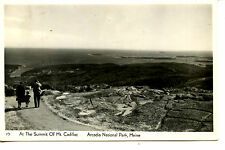 Summit View Mount Cadillac-Arcadia Park-Maine-RPPC-Vintage Real Photo Postcard