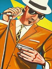 BLUES HARP MAN PRINT poster hohner harmonica chicago summit shure microphone amp