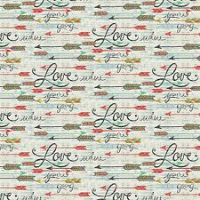 Wild Wings Southwest Love Arrows 100% cotton Fabric by the yard