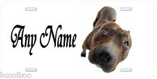 Staffordshire Bull Terrier Any Name Personalized Tag Novelty Car License Plate