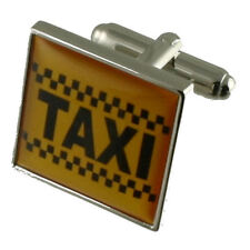 Taxi Cufflinks With Pouch